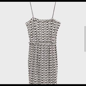 ZARA metallic geometric dress